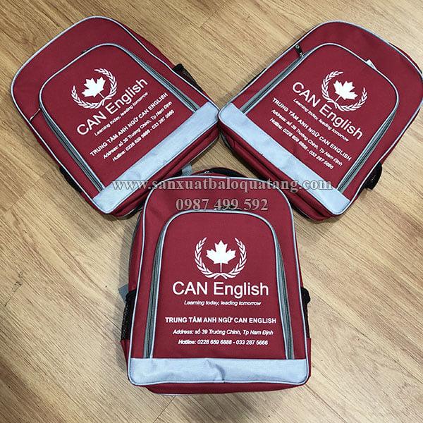 Balo học sinh quà tặng trung tâm tiếng Anh Can