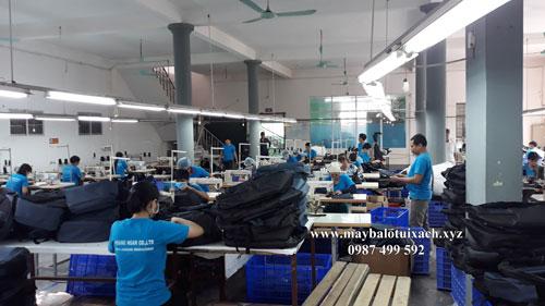 Nhà máy sản xuất balo laptop Hoàng Ngân tại Bắc Ninh