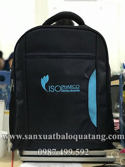 Sản xuất balo laptop quà tặng Iso Pharco