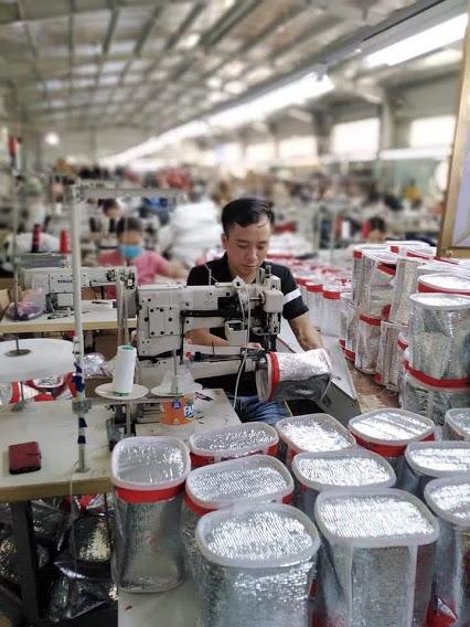 Sản xuất gia công tui giữ nhiệt xuất Hàn